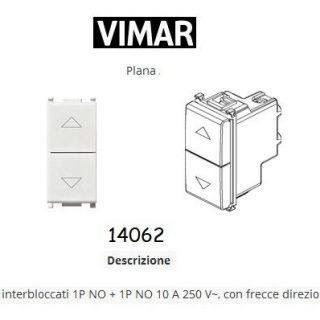 VIMAR PLANA 14062 2 PULSANTI INTERBLOCCATI CON FRECCE BIANCO