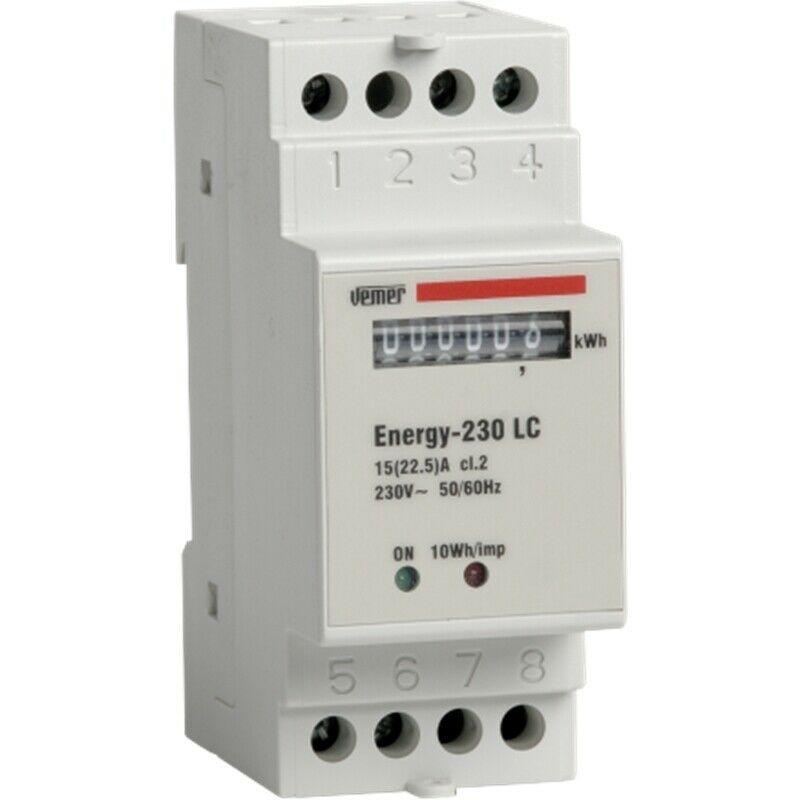 VEMER-CONTATORE-ENERGIA-MONOFASE-ENERGY-230-LC-VN960100-143677562322