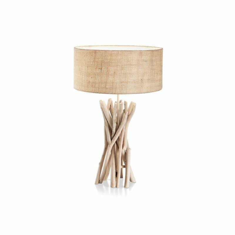 IDEAL-LUX-DRIFTWOOD-TL1-lume-rustico-da-soggiorno-lampada-da-tavolo-in-legno-132924057053