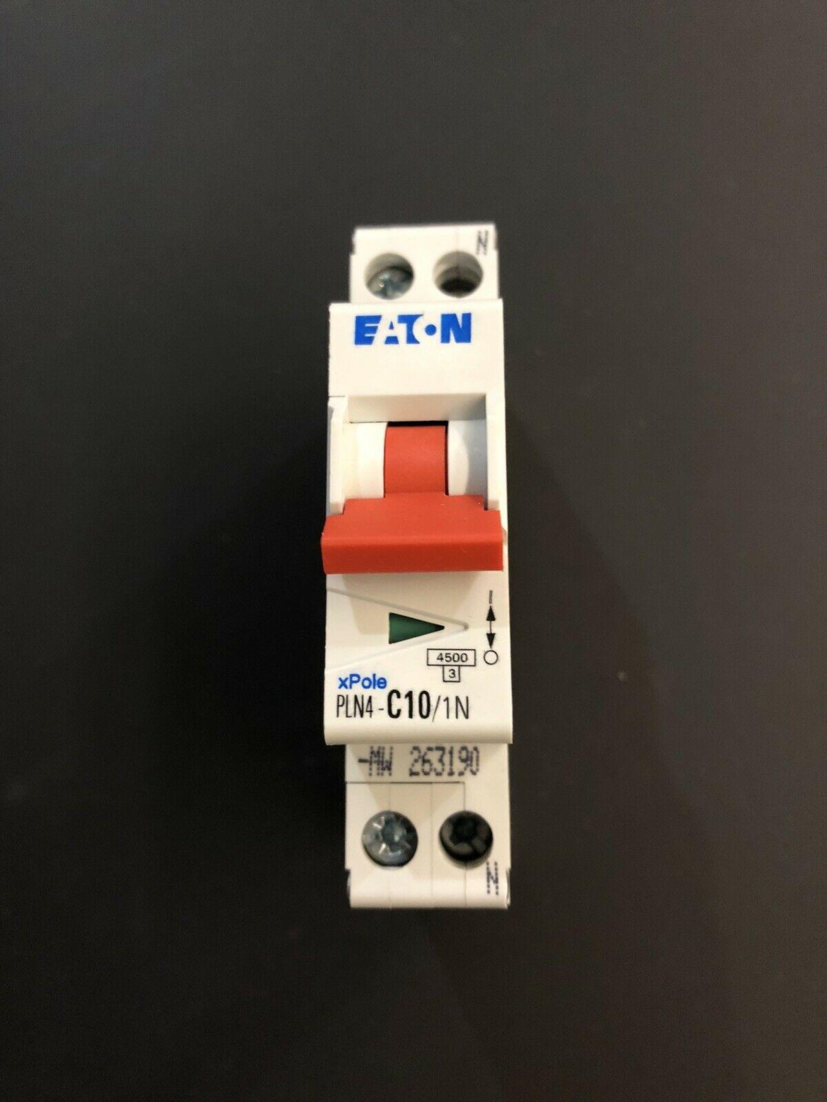 EATON-INTERRUTTORE-AUTOMATICO-MODULARE-MAGNETOTERMICO-1PN-10A-4500K-1M-263190-143536635604