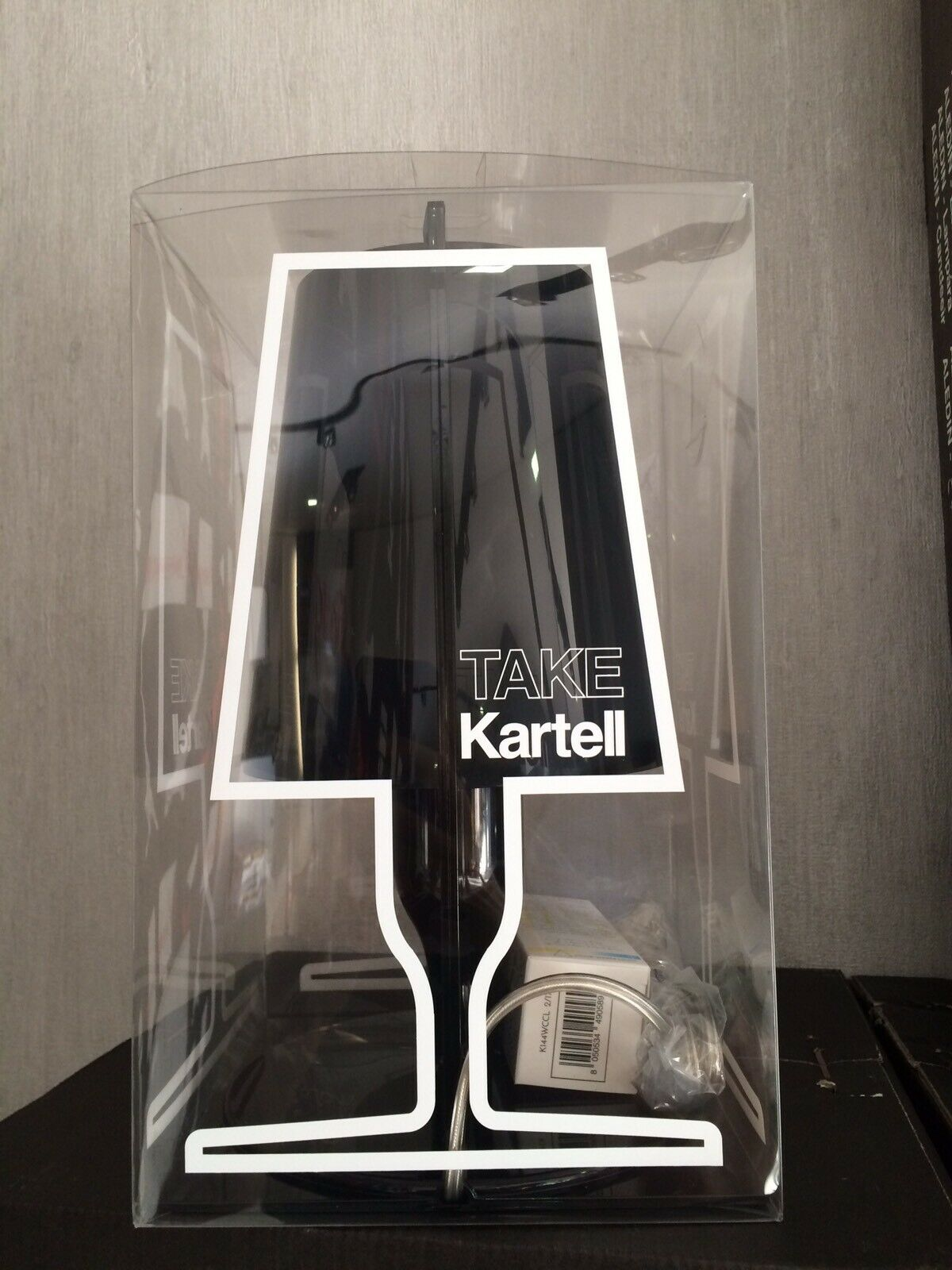 kartell take lampada nera 09050/Q8