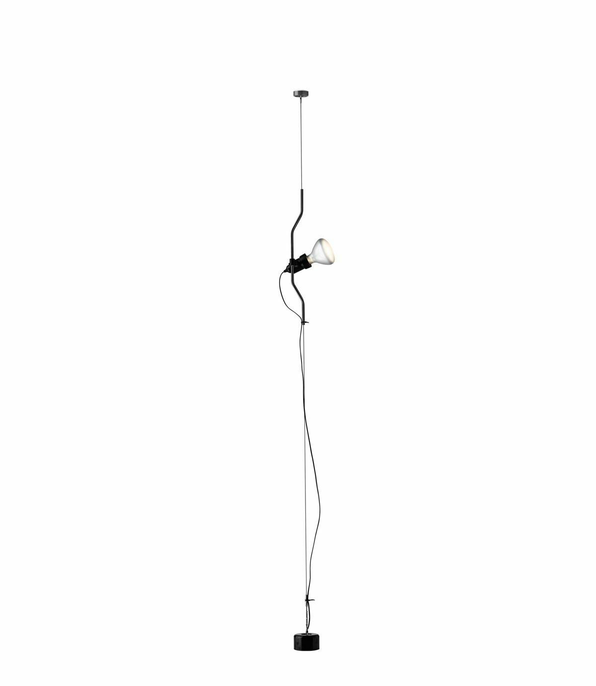 Flos-Parentesi-Sospensione-Nero-F5400030-LAMPADINA-LED-INCLUSA-ONOFF-153807767577