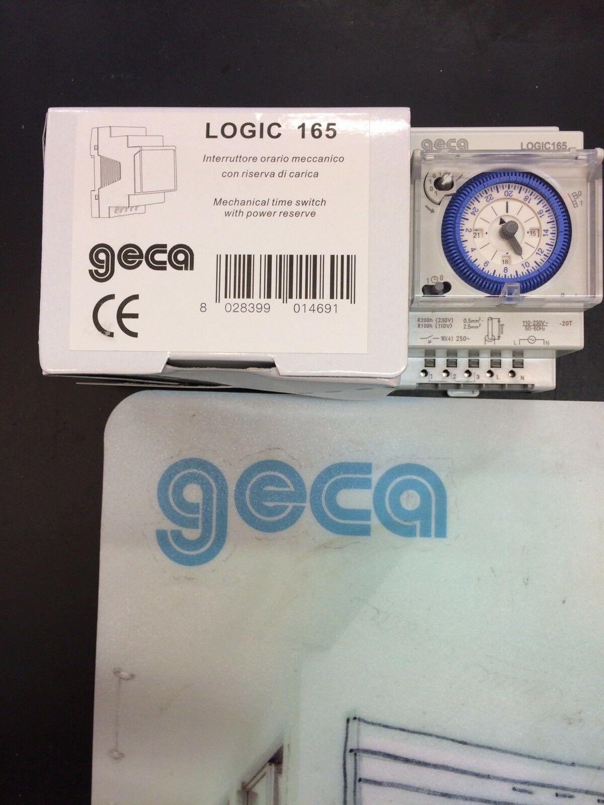 GECA-LOGIC-165-31650363-INTERRUTTORE-MECCANICO-ORARIO-GIORNALIERO-3MOD-132872729357