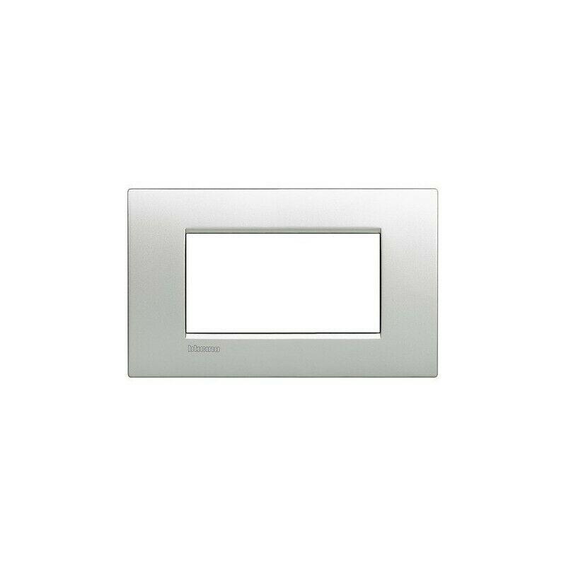BTICINO LIVINGLIGHT placca quadra 7 moduli grigio ghiaccio LNA4807KG