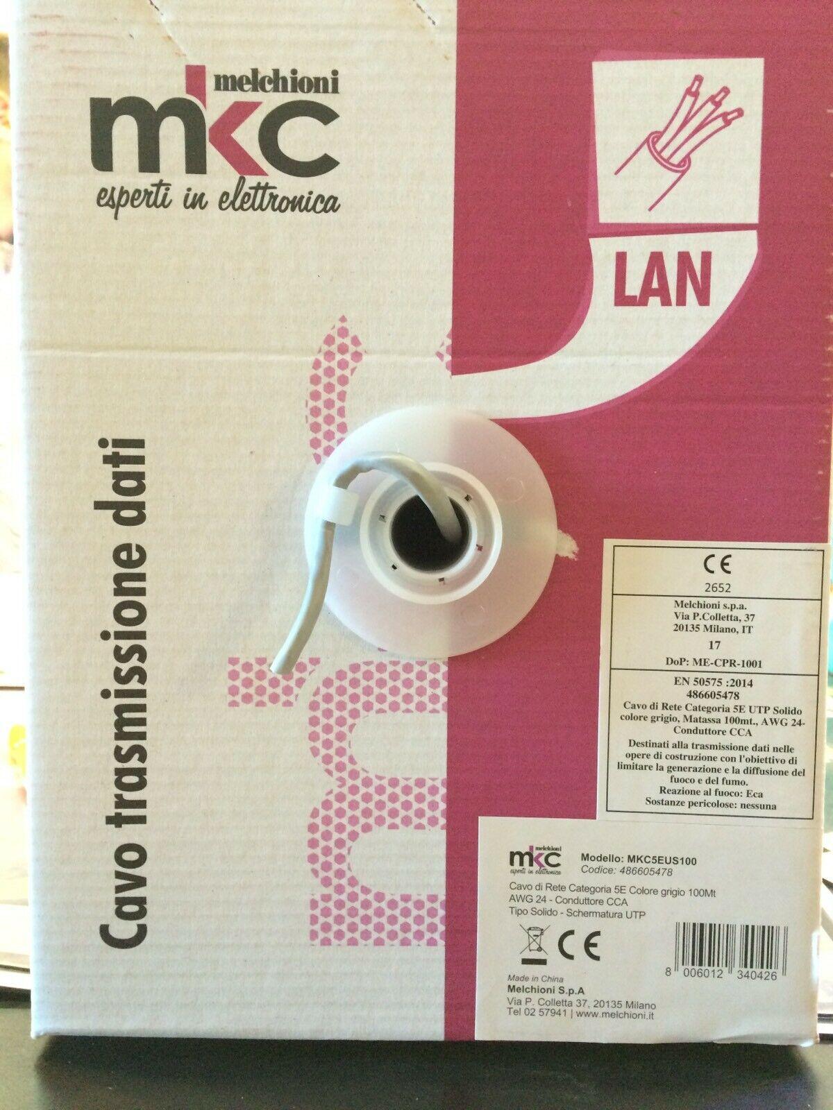 Cavo-lan-mkc5euscu-100-METRI-categoria-5e-utp-con-conduttori-in-alluminiorame-153431531359