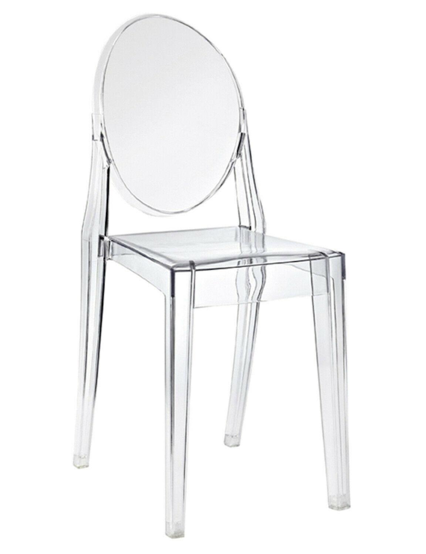 Sedie Kartell Sedia Victoria Ghost 4857b4 Colore Trasparente Cristallo Casa E Cucina