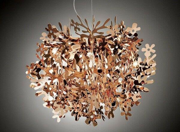 Lampadario Fiorella Slamp : Slamp fiorella mini lampada sospensione copper diametro egizi
